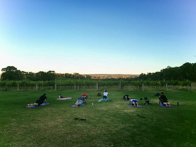 Yoga at Gemtree Winery